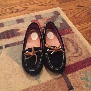 Speedy black suede loafers